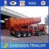 Factory 3 Axles U Shape Rear Dump Truck / Tipper Semi Trailer for Sale, Squared and U Shape Tipper Trailer