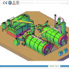20 Ton Rubber Pyrolysis Plant Two Reactor Work Together