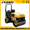 Perkins Engine Tandem Drum 3 Ton Vibratory Roller for Sale