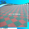 Ce Certificated Outdoor Bright Color Rubber Tile 1m*1m