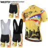 New Summer Mens Bike Wear MTB Bicycle Jersey with Bib Shorts