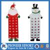 Felt Advent Calendar Santa and Snowman Design with 24 Pockets for Christmas Decoration