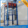 Outdoor Stationary Guide Rail Goods Elevator with TUV