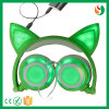 China Fashion Cute Design Wired Stereo Showy Cat Headphone