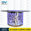 Furniture LED Table Stainless Steel Table Round Dining Table