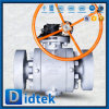 Didtek SS316 Seat Hard Seal Trunnion Ball Valve with Gear Operated