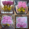 100% Handmade Flower Gift Custom Made Acrylic Flower Box