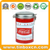 Airtight Embossed Tin Box with Metal Clip for Beverages