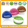 Mini Tin Box Round Metal Can Cosmetic Lip Balm Tins