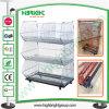 Supermarket Foldable Metal Wire Basket Display Promotion Cage
