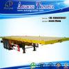 Flatbed Container Semi Trailer with Tri-Axle, Heavy Duty Flatbed Semi Trailer