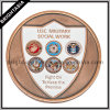 Zinc Alloy 3D Coin with Two Sides Logo with Bronze Finish (BYH-10806)