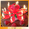 14 Rotating Candle Lotus Flower Candle