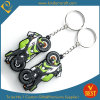China Wholesale Die Casting 3D Motor Design Rubber Key Chain with High Quality