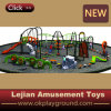 New Multi Play Children Outdoor Climbing Equipment for Public Park with Slide