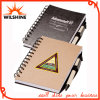 Customized Logo Promotional Spiral Hardcover Notebook with Pen (SNB126)