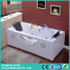 Popular Rectangle Jacuzzi Whirlpool Acrylic Bath Tub with Pillow (TLP-659)