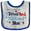 Promotional Cotton Letters Embroidered Custom Terry Baby Bib Pinafore
