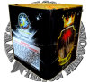 "1.2"" Royal Crown 25 Shots Cake Fireworks"
