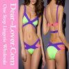 Purple Bandage Color Block Bikini Swimsuit