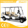 6 Person Electric Utility Golf Cart with Rear Flip Flop Seat