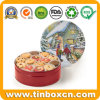 Food Grade Metal Christmas Gift Tin Box for Biscuit Cookie