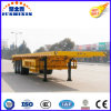 3 Axles Flatbed Container Semi Trailer for Sale
