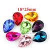 K9 Glass Crystal Pear 18*25 Fancy Chaton Pointback Rhinestones (TP-Pear 18*25)