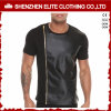 Wholesale Custom Men′s Cheap Black Leather T Shirts (ELTMTI-22)