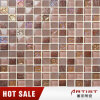 Classical Design 8mm Thickness Brown Crystal Glass Mix Resin Mosaic