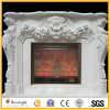 White Marble Stone/Limestone/Travertine Fireplace Mantel/Fireplace with Good Carving