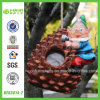 Pine Cone Shape Hanging Bird Nest with Gnome Figurine (NF83014-2)