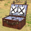 Customized Eco-Friendly Natural Wicker Picnic Basket with Rectangular Shape
