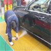 Concave Gritted Surface Treatment Molded FRP Gratings in Car Wash Shop