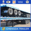 Tri Axle 40ft Truck Semi Platform Container Flatbed Trailer