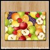 Colored Tempered Glass Cutting Board with Fruit Pattern
