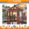 2017 Hot Sale Fashionable Outdoor Aluminium Hexagonal Garden Pavilion with Wood Grain