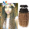 Ombre Brazilian Deep Curly Virgin Hair Deep Wave 3 Bundles Blonde Ombre Deep Curly Brazilian Hair Weave Bundles Ombre