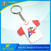 Professional Custom High Quality Sports Tshirt Key Chain/Promotional PVC Rubber Key Ring/Tag (XF-KC-P17)