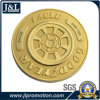 Die Casting Zinc Alloy Metal Coin Shiny Gold Plating with Sandblasting