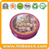 Round Cookie Tin Container, Food Storage Box, Biscuit Tin Can
