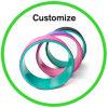Custom Gym Ball Exercise Foam Roller Yoga Wheel