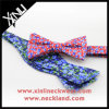 Wholesale Handmade Custom Print Pure Silk Self Tie Bow Ties for Men