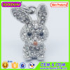 Cute Metal Crystal Rabbit Charm/ 3D Animal Charm
