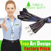 Promotional Ribbon Colorful Cord Lanyard with Keychain Holder