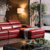 Red Leather Sofa (828)