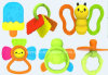 Wonderful Cheap Plastic Baby Hand Rattles Toy