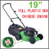 Australia Popular 4 PC Blades Full Plastic Grass Box Gasoline Lawn Mower (XYM198-1)