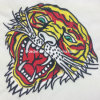 Woven Tiger Embroidery Pattern