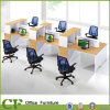 6 Seats Office Workstation with Bookcase CF-P10338A